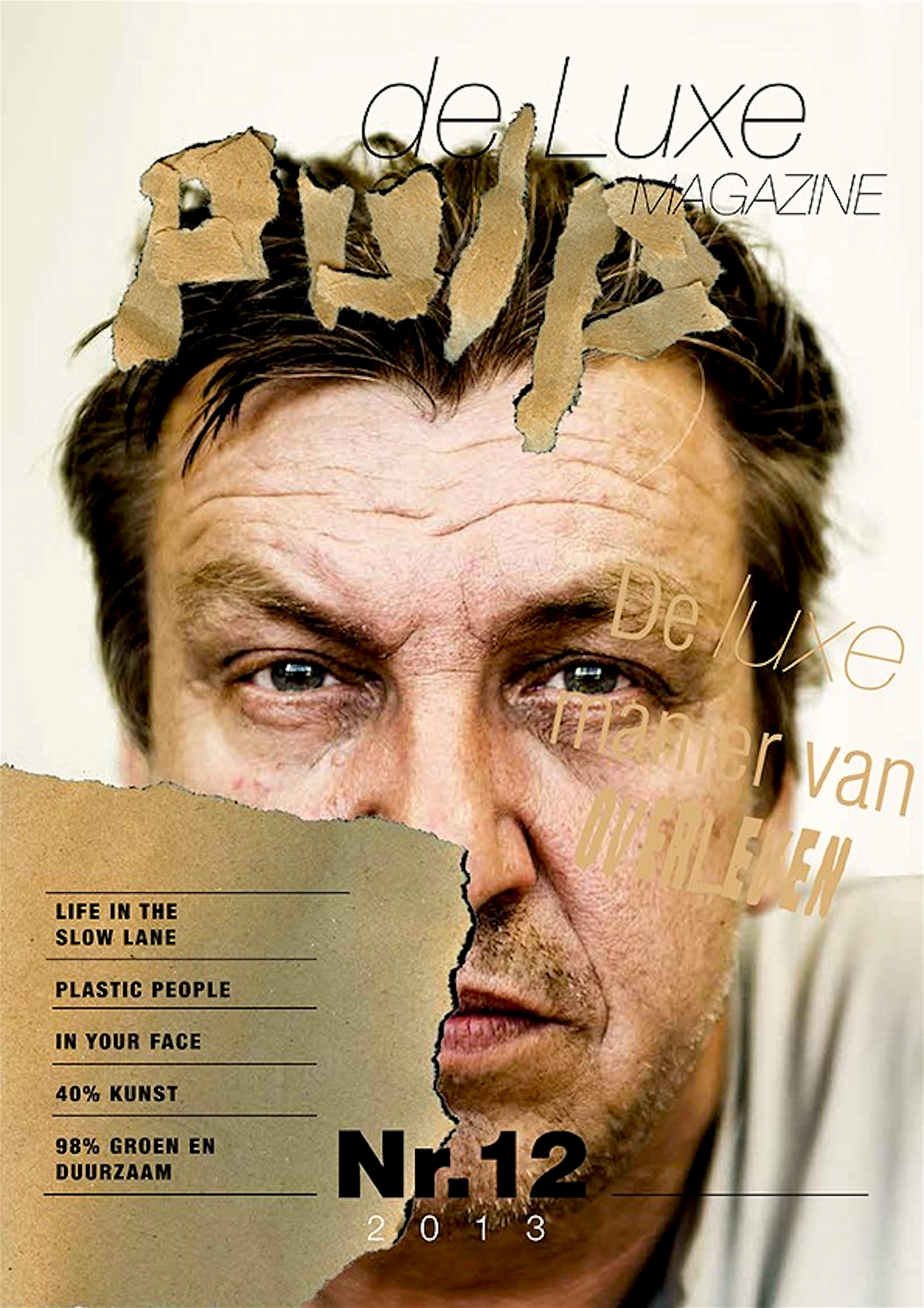 Rob Scholte op cover Pulpdeluxe Magazine (foto ISSUU)