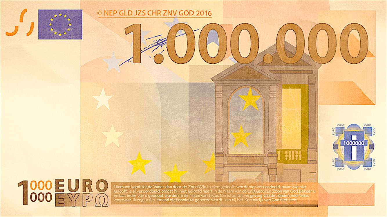 1.000.000 euro (foto Evangelisatie-Materiaal)