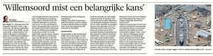 Arie Booy - 'Willemsoord mist een belangrijke kans', Helderse Courant, 23 september 2017