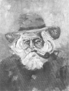 fig. 1 Portrait of Camille Pissarro, from sale Collection Coray Stoop, Lucerne (Theodor Fischer) and Amsterdam (A. Mak), 29 July 1925, lot 107