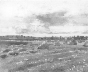 fig. 7 Wheatfield with sheaves (JH 1478)
