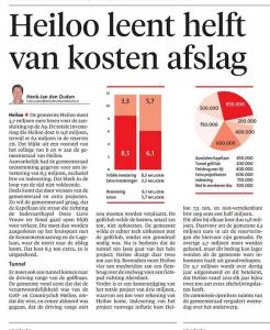Henk-Jan van den Ouden - Heiloo leent helft van kosten afslag, Alkmaarse Courant, 18 november 2017