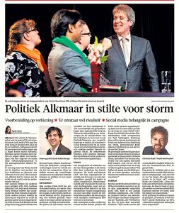 Alkmaarse Courant, 8 januari 2018