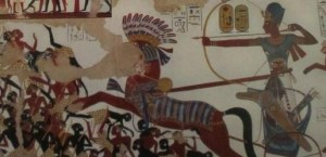 Ramses II in zijn strijdwagen (1)