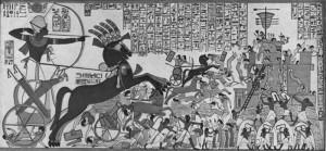 Ramses II in zijn strijdwagen (6)