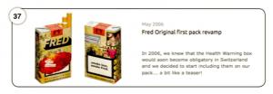 Abbildung 37 FRED-Verpackungsdesign vor offizieller Einführung der Warnhinweise