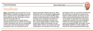 Delano Weltevreden - Stadhuis, Helderse Courant, 17 februari 2018