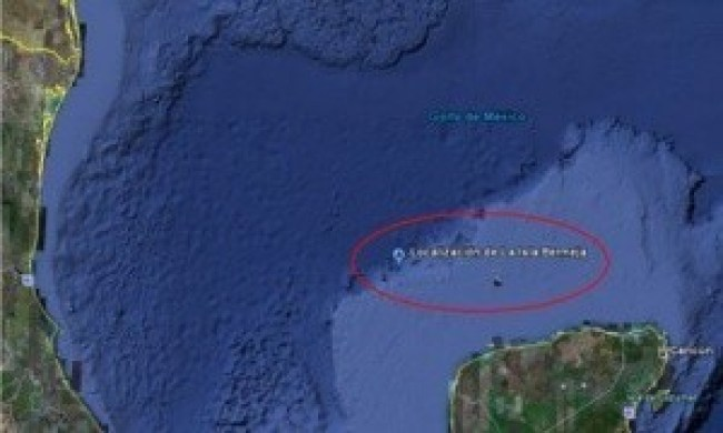 Former location of the vanished island, Bermeja