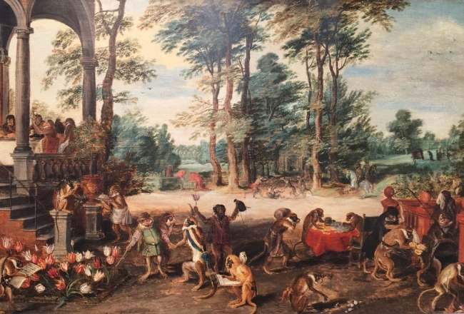 Jan Brueghel the Younger - Satire on Tulip Mania