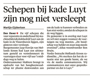 Helderse Courant, 6 februari 2018