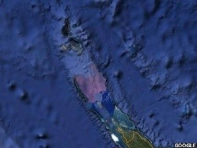 Sandy island in region of Australia - vanished