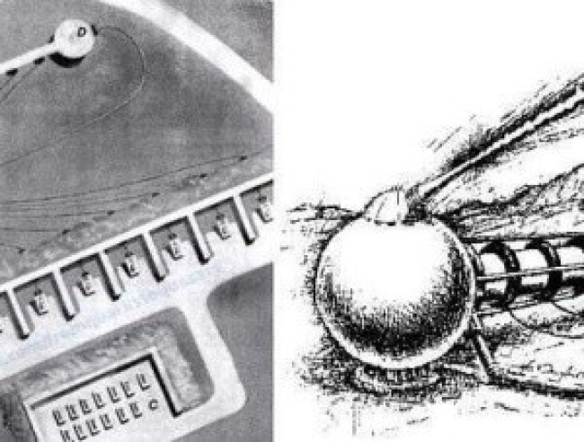 Teleforce illustration compared to enhanced satellite photo of a HAARP complex