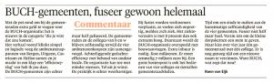 Koen van Eijk - BUCH gemeenten, fuseer gewoon helemaal, Alkmaarse Courant, 3 maart 2018