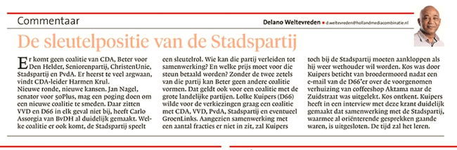 Helderse Courant, 13 april 2018