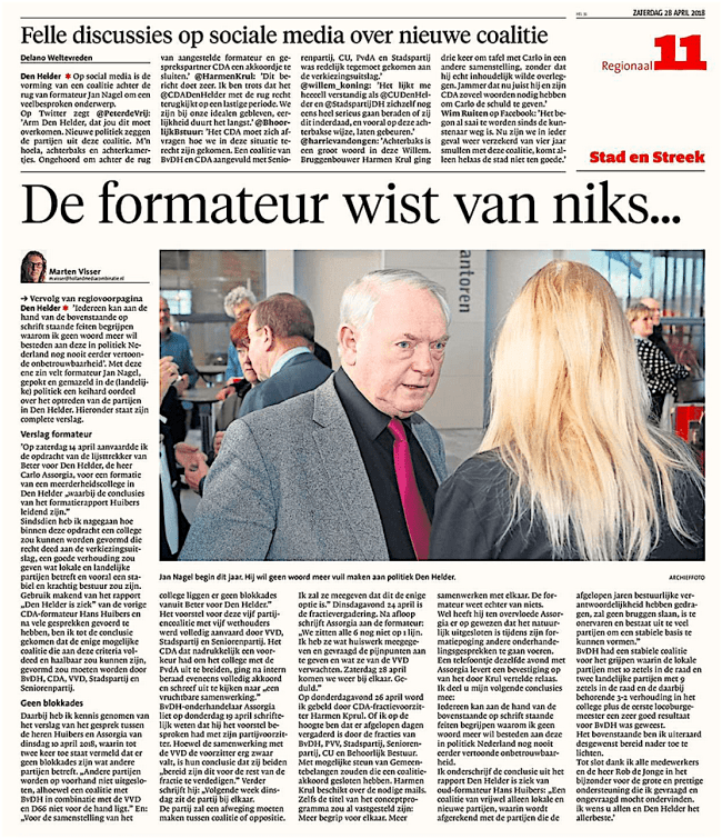 Helderse Courant, 28 april 2018