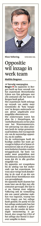 Alkmaarse Courant, 7 juni 2018