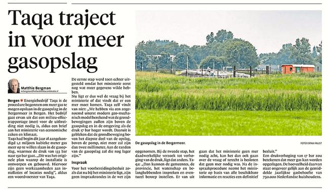 Alkmaarse Courant, 5 juni 2018