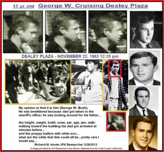 G.W. Bush in Deally plaza when JFK was gunned down 2 (foto Before It's News)