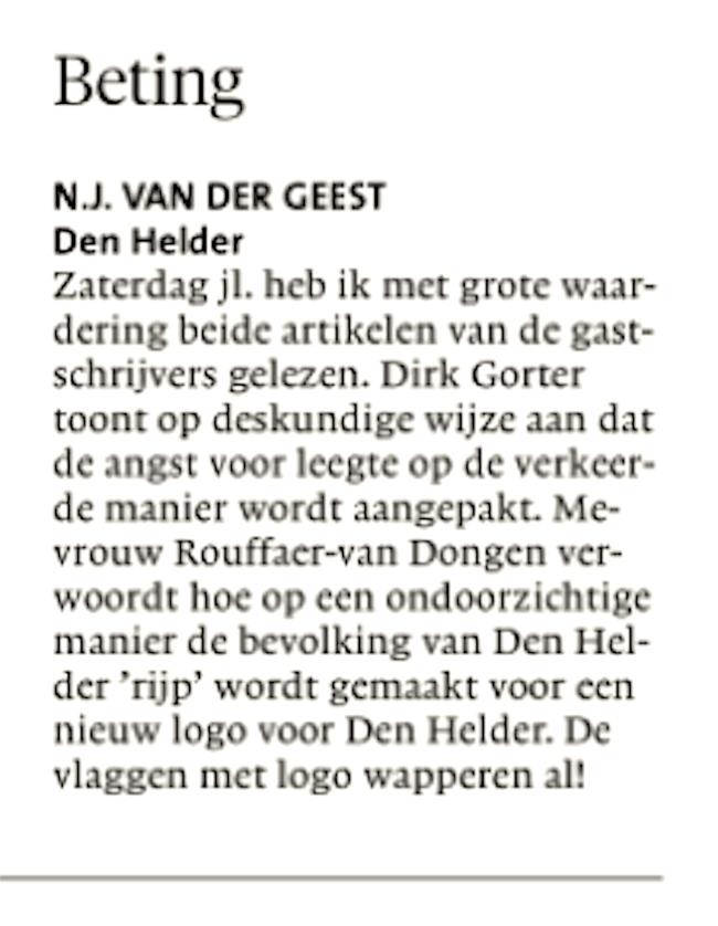 Helderse Courant, 25 augustus 2018