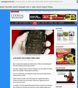 Screenshot Canadajournal (Art Replik)