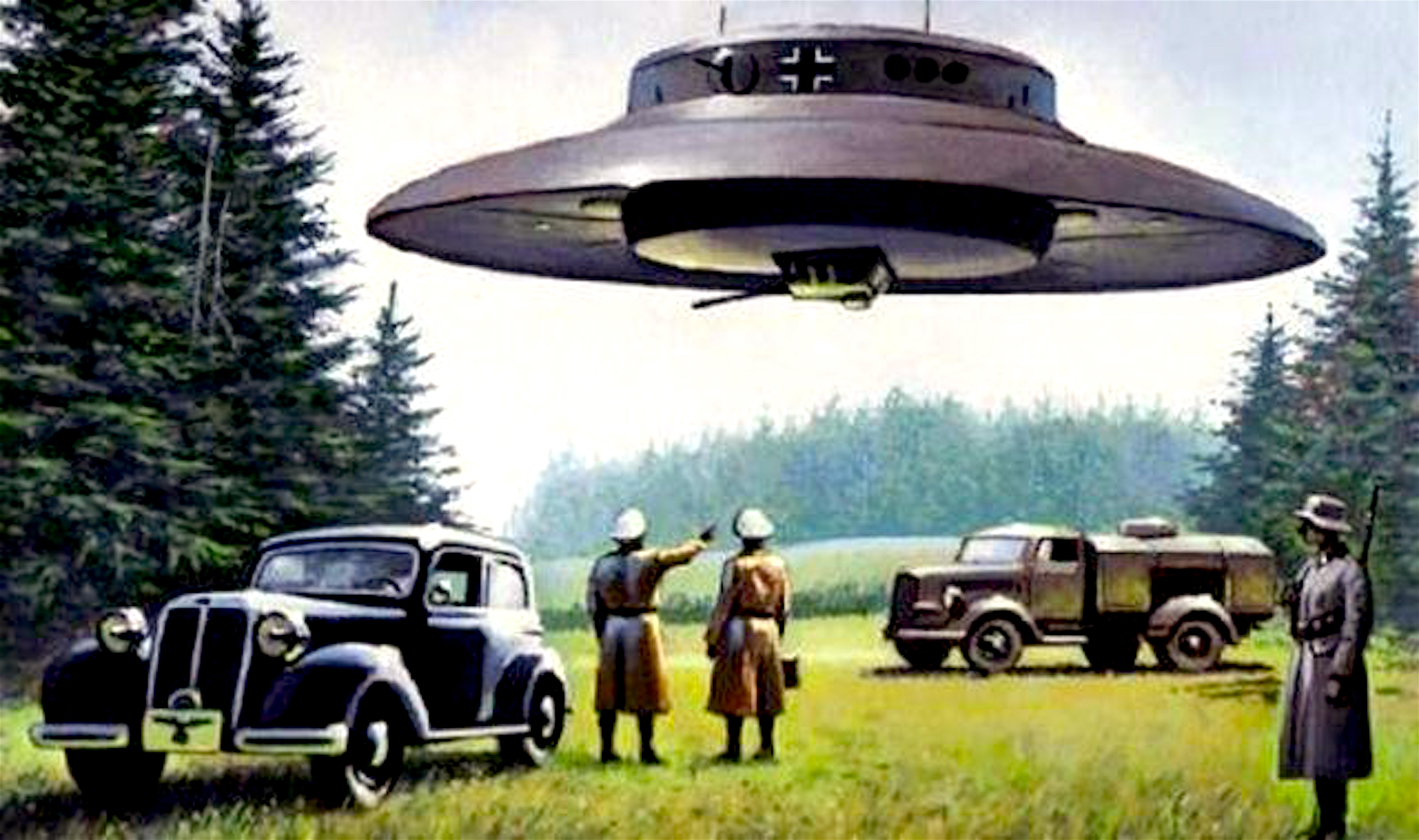 Nazi UFO Flying Saucer (foto Before It's News)