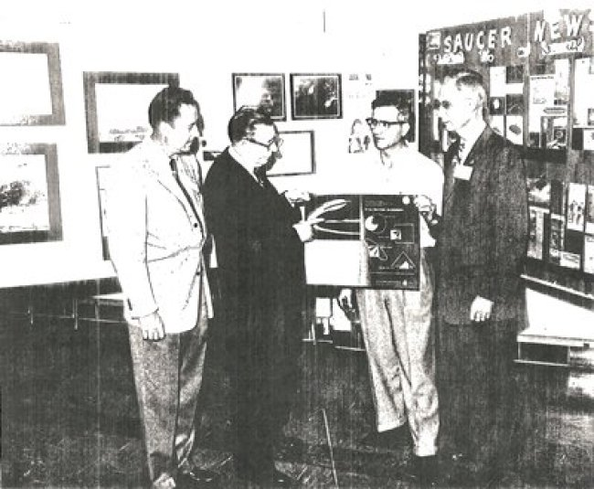 Wayne Aho, a military intelligence officer who was going to accompany Carr on his trip to the moon, Carr is second from the left