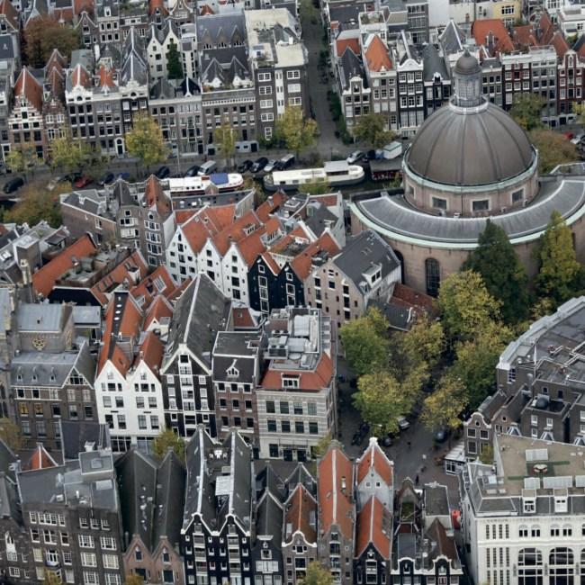 Luchtfoto Singel en Koepelkerk