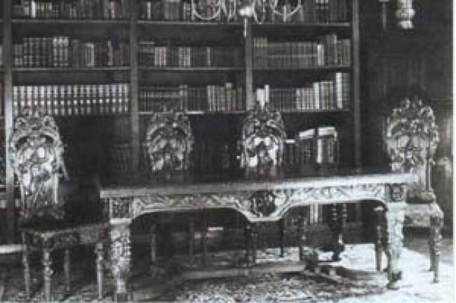De villa Zionsburg, interieur werd in 1882 door Charles Stracké ontworpen