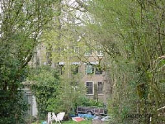 't Lijkt idyllisch.. de tuin van 224 (foto Gerard Monté)