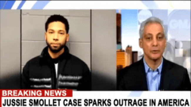 Jussie Smollett & mayor of Chicago Rahm Emanuel (foto StrangerThan Fiction)