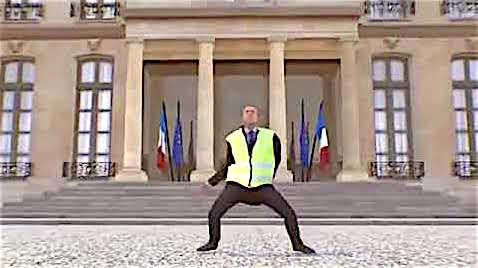 Macron Jaune (foto YouTube)