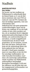 Helderse Courant, 23 maart 2019
