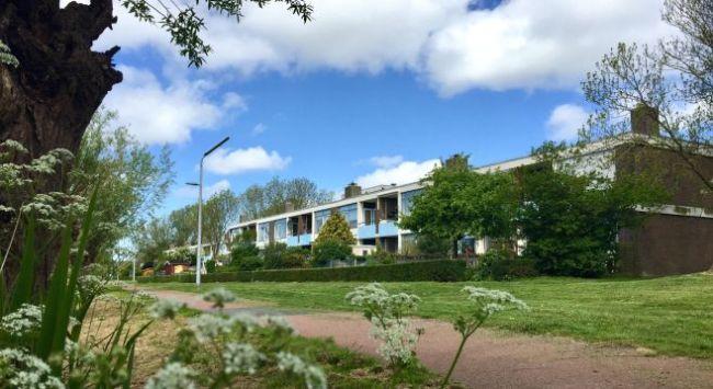 De duplexwoningen aan de Schoenerstraat staan op de nominatie om gesloopt te worden (foto Marten Visser)