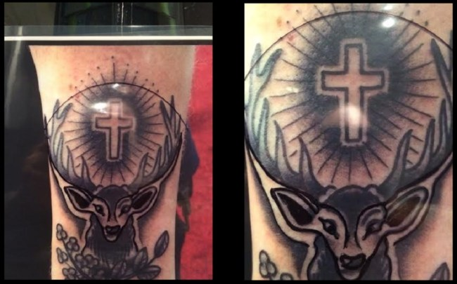 The head of Lucifer, which resembles an alien just like the Jägermeister logo (1)