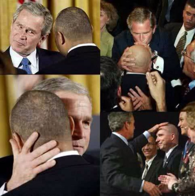 (L) Bush couldn't keep his hands off male lover JeffGannon, homosexual trysts in the White House both shared with (R) Christian Coalition Chieftain Ralph Reed