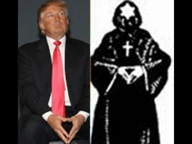 Trump does satanic handsign (foto henrymakov.com)