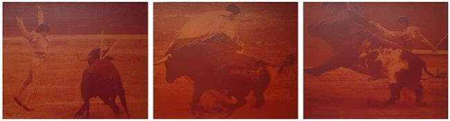 Paul Blanca - SANGRE DE TORO (1991, consisting of 8 silkscreen prints with Bull's blood on 300 grams BFK Rives, 94 x 73cm, in a deluxe box