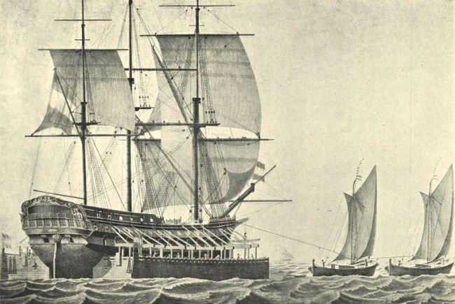 Scheepskameel getrokken door Marker waterschepen (foto Regionaal Archief Alkmaar)