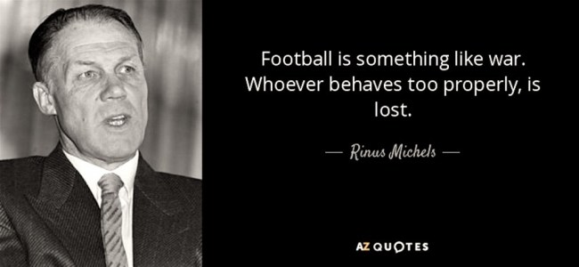 """Rinus Michels """"Voetbal is oorlog"""""""