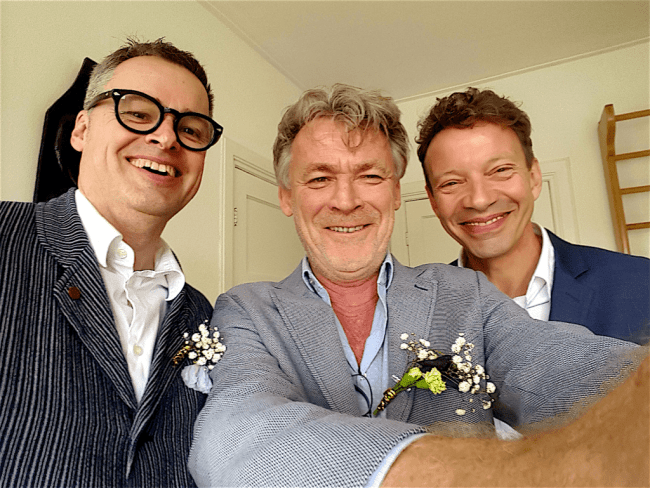 V.l.n.r. Theo Toebosch, Tijn Sadee & Eduard van Holst Pellekaan