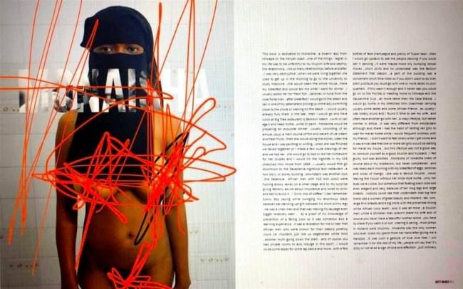Monaisha, pagina's uit Klashorsts Dirty Diaries, uitgegeven door Jaap Holtzapffel (foto Facebook)