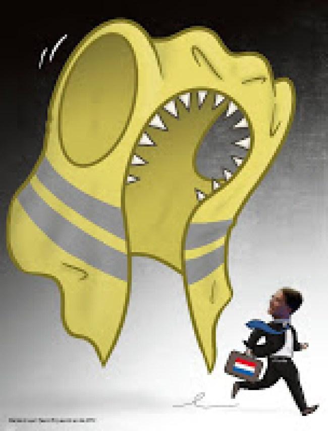 Rutte achtervolgt door de Geel Hesje (foto stoppasfamiliedrama.blogspot.com)