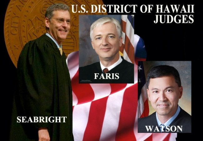 Three federal judges in Hawaii who enabled Sulla to steal Dr. Horowitz's propert (foto Before It's News)