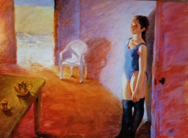A painting Maria Farmer made during the alumnae trip to New Mexico and gave to Epstein (foto art.com)