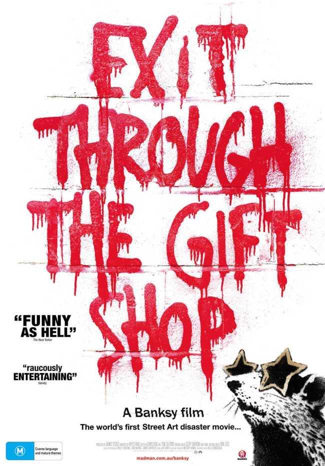 Poster Exit through the Gift Shop (foto Bettina schrijft)