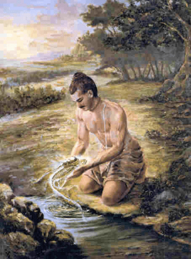 Vaivasvata Manu and the fish (foto falgunikothar)