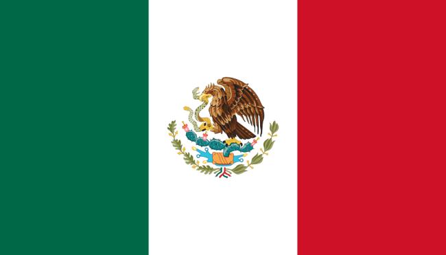 Vlag van Mexico (foto Wikipedia)