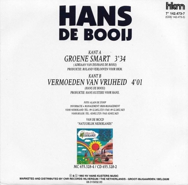 Hans de Booij - Groene Smart (Back Cover)