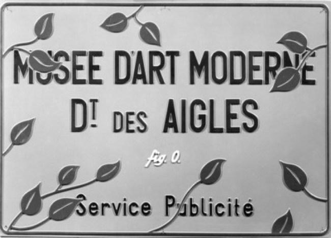 Marcel Broodthaers - Musée d'Art Moderne, Dt. des Aigles, Service Publicité