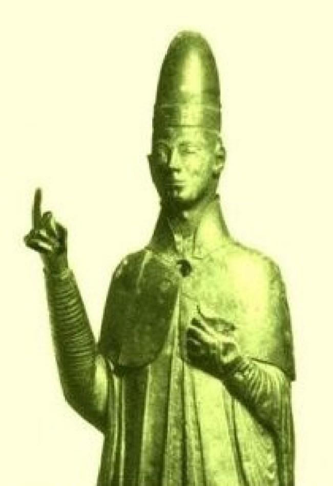 Paus Bonifatius VIII (1235 - 1303) zegent de broederschap philipvanegmond.nl)